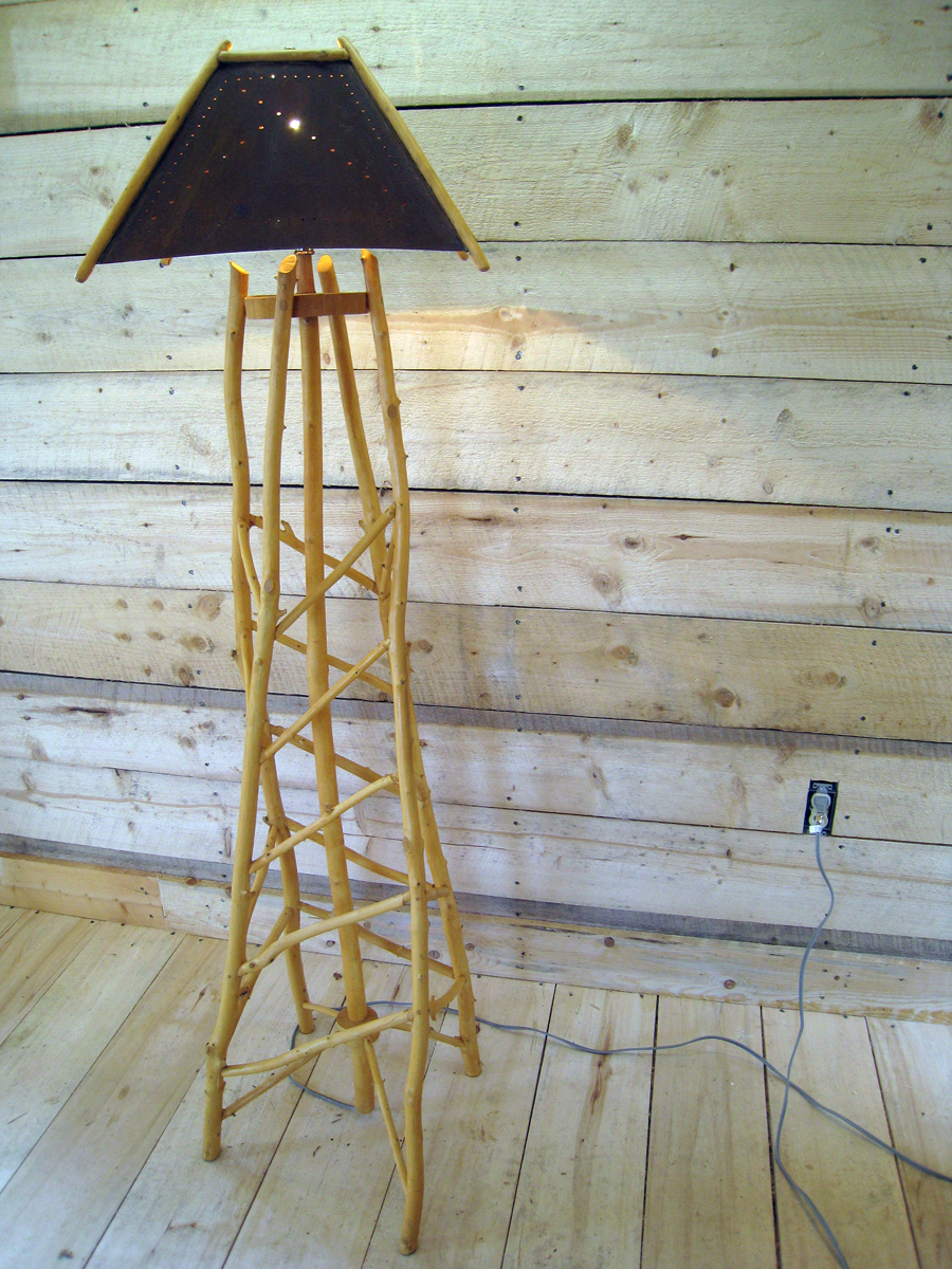 Obelisk floor Lamp $150, without shade