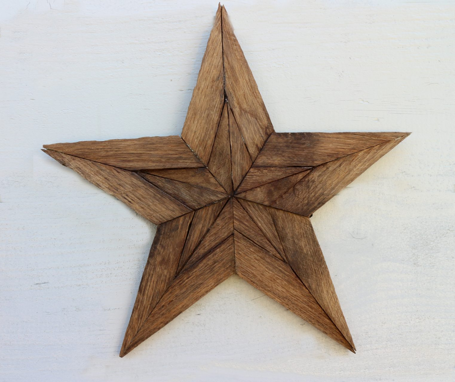 "Stars, made from lobster trap wood,15"" $25."