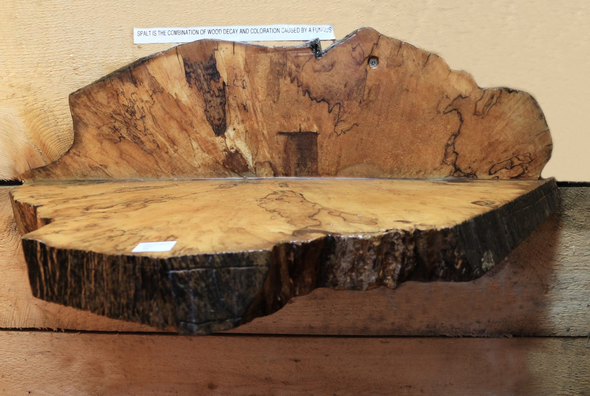 spalted maple shelf,$65.
